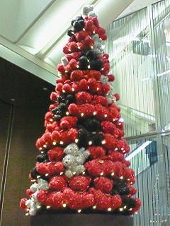 テディベアのクリスマスツリー