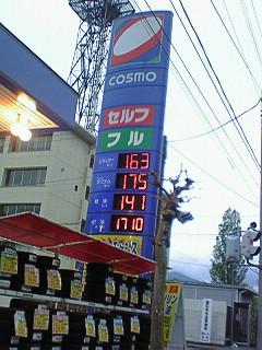 ガソリン高い!