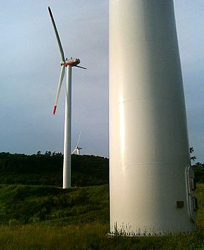 釜石の風力発電